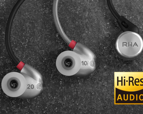 RHA in-ear headphones achieve High-Resolution Audio certification